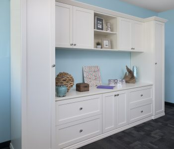 White home office cabinets